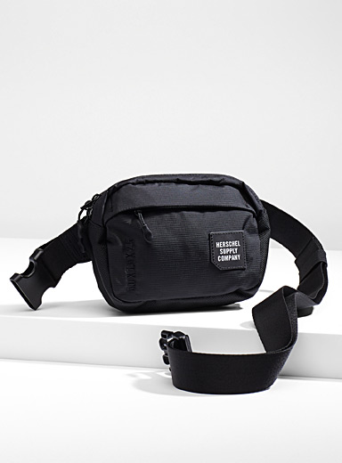 Herschel Black Tour small belt bag for men