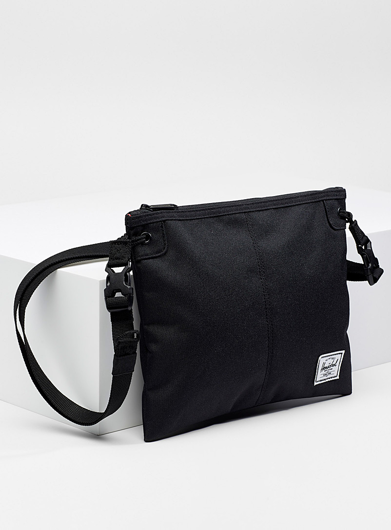 Herschel Black Alder shoulder bag for men