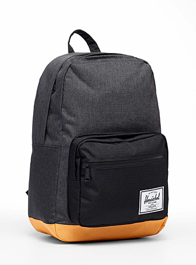 Pop Quiz orange accent backpack
