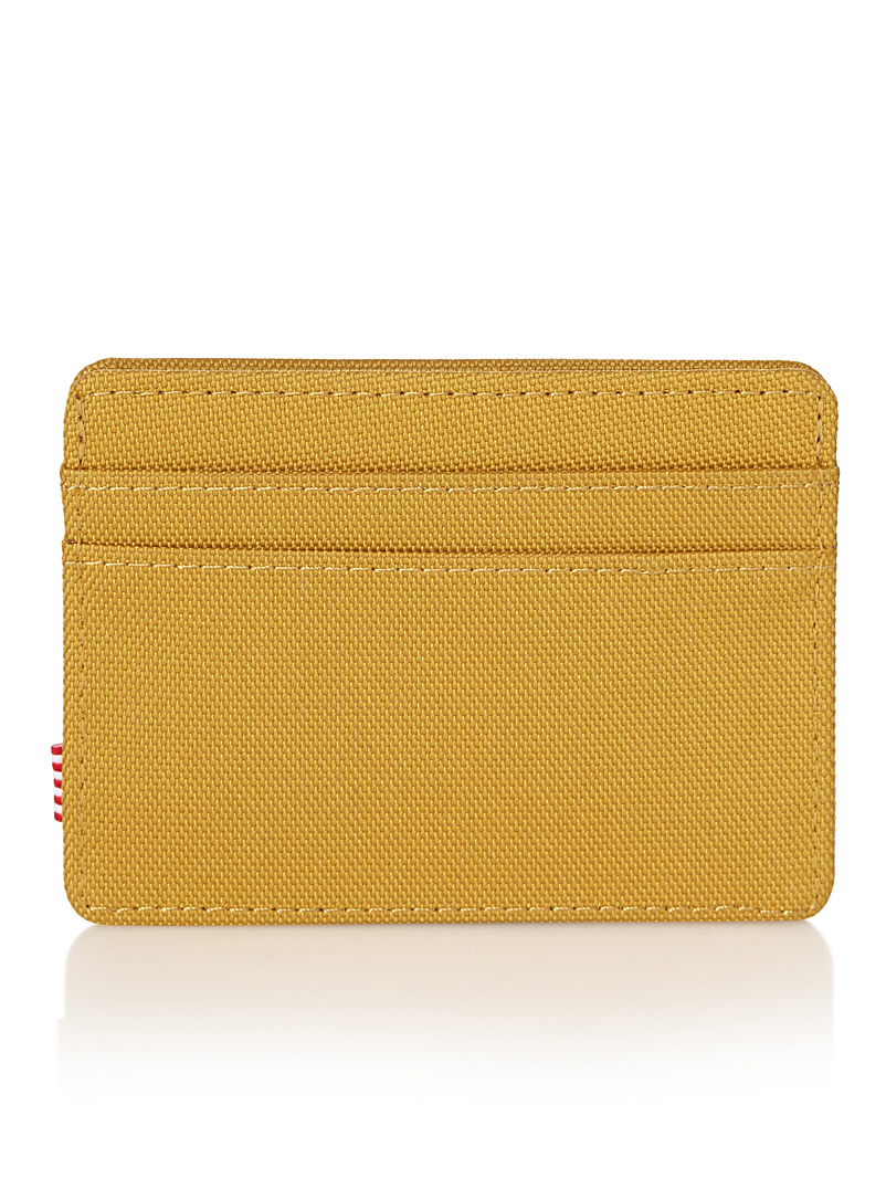 Charlie card holder - Canadian Brands - Dark Yellow