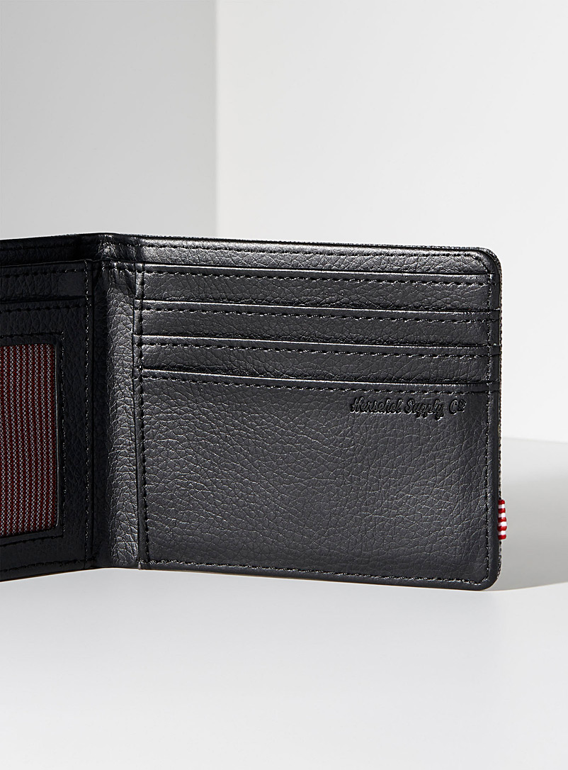 Herschel Oxford Hank mixed-media wallet for men