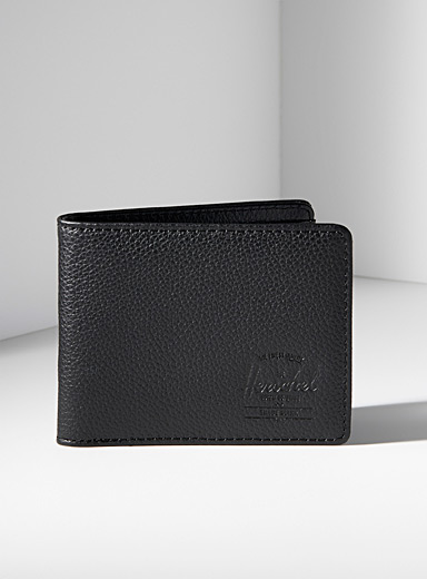 Herschel Black Hank leather wallet for men