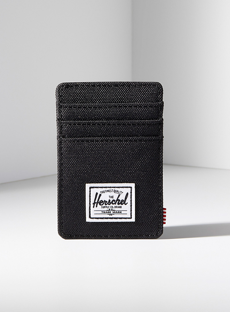 Raven clip card holder - Wallets - Black