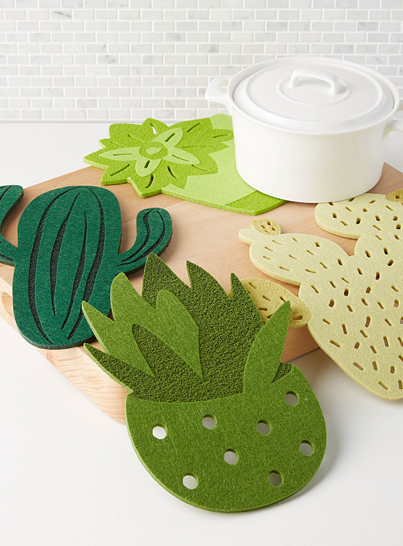 Cactus felt trivets  Set of 4 - Trivets & Coasters - Assorted