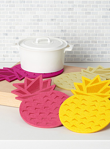 Pineapple cocktail trivets  Set of 4