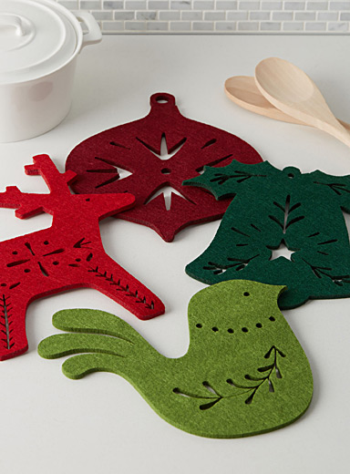Christmas magic felt trivets  Set of 4