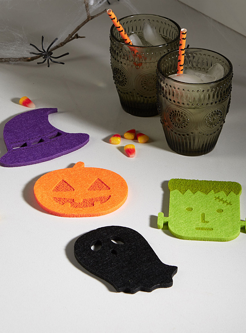 Halloween madness felt coasters  Set of 4 - Trivets & Coasters - Assorted