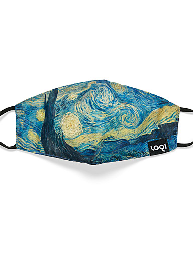 Vincent Van Gogh's Starry Night fabric mask