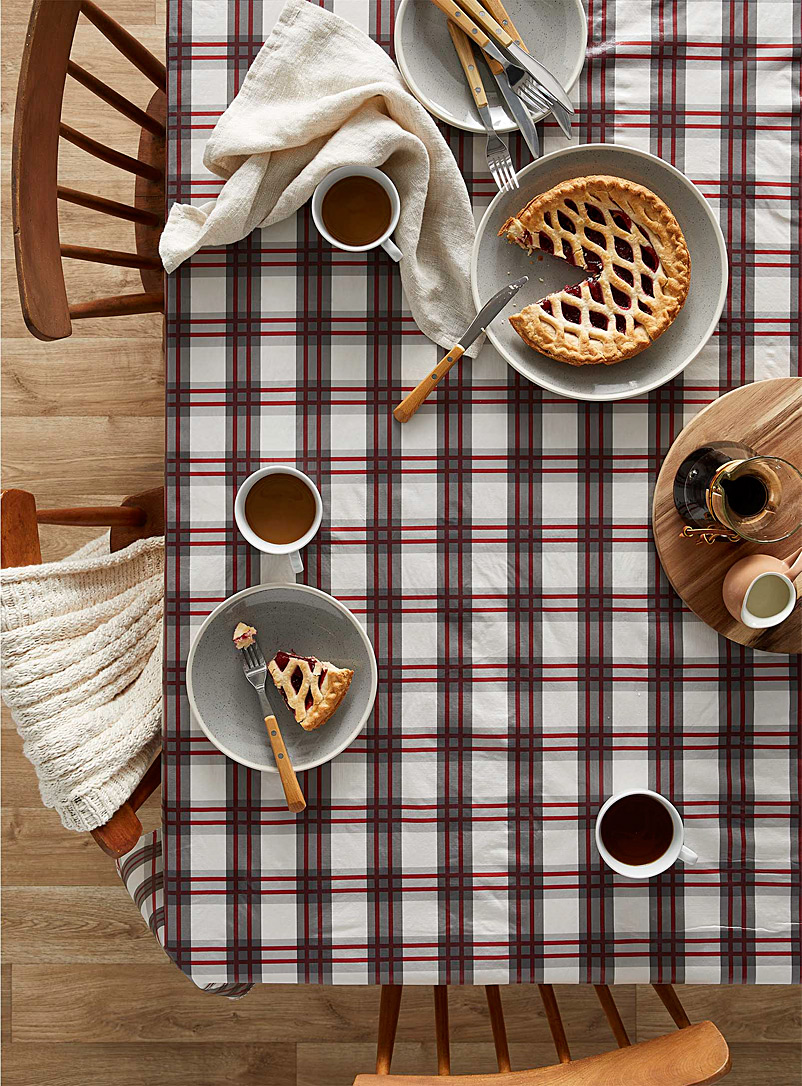 Simons Maison Assorted Giant check vinyl tablecloth
