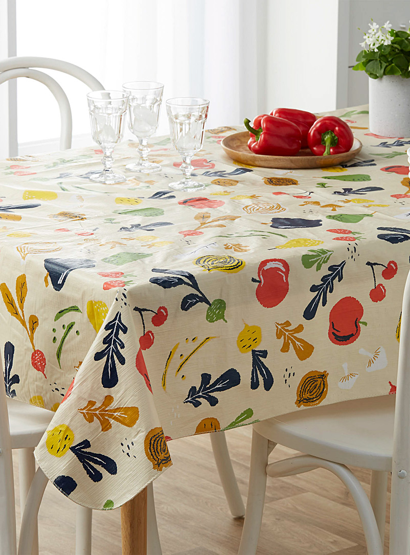 Garden harvest vinyl tablecloth