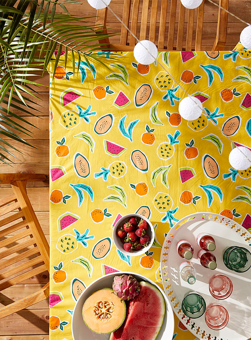 Simons Maison Assorted Fruity tango vinyl tablecloth