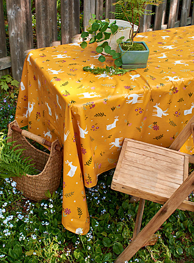 Fantastic garden vinyl tablecloth