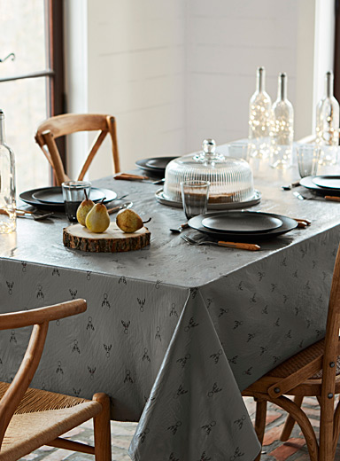 Nerdy deer vinyl tablecloth