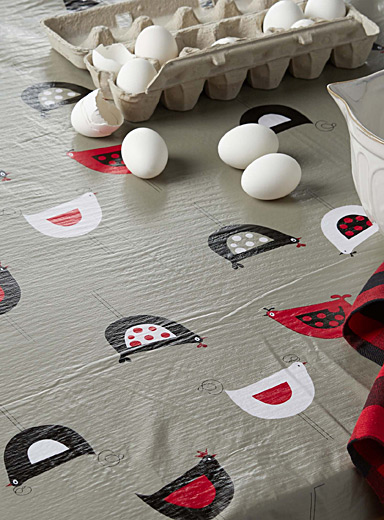 Geo chicks vinyl tablecloth