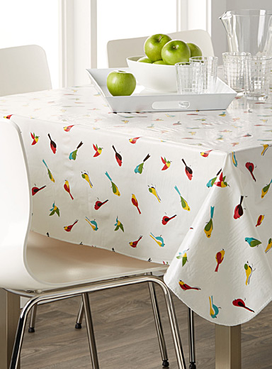 Small bird vinyl tablecloth