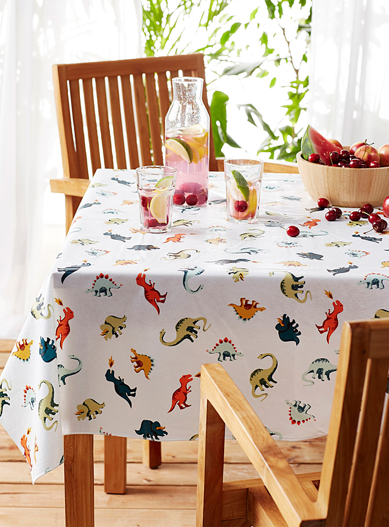 Simons Maison Assorted Dinosaurs vinyl tablecloth