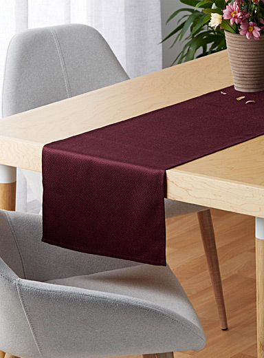 Le chemin de table tissage microquadrillé <br>35 x 180 cm