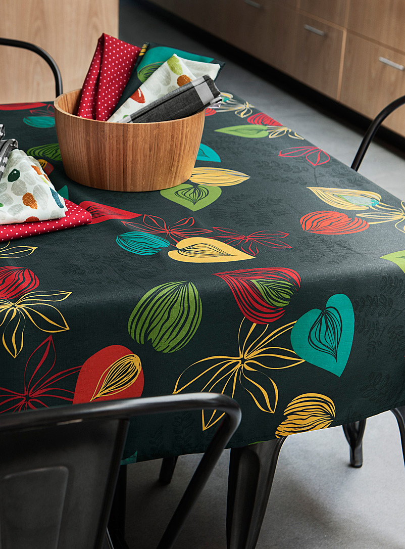 Simons Maison Assorted Coloured leaves tablecloth