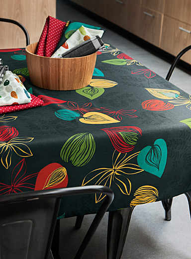 Coloured leaves tablecloth