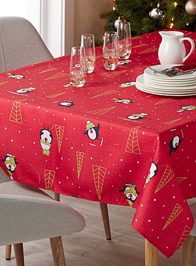 Winter penguins tablecloth    All sizes
