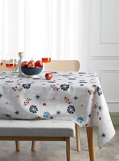 Kaleidoscope flowers tablecloth    All sizes