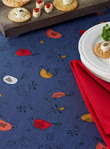 Urban birds tablecloth    All sizes