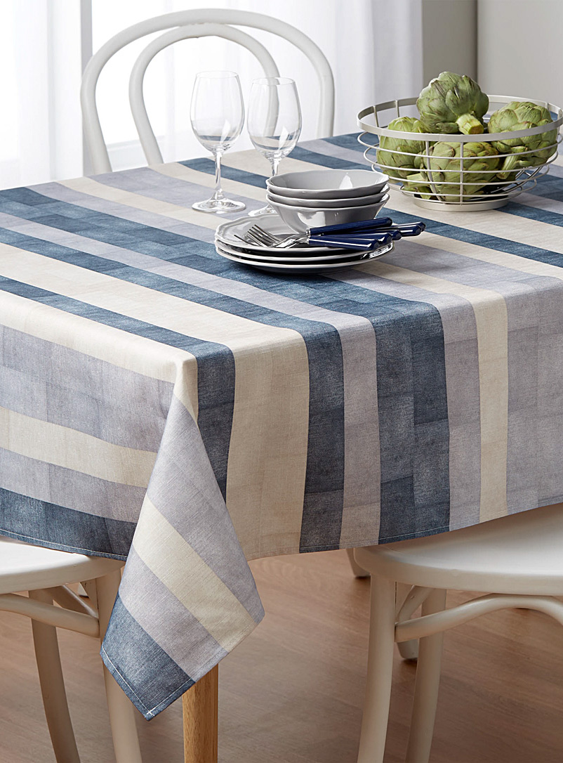 Denim stripe tablecloth    All sizes