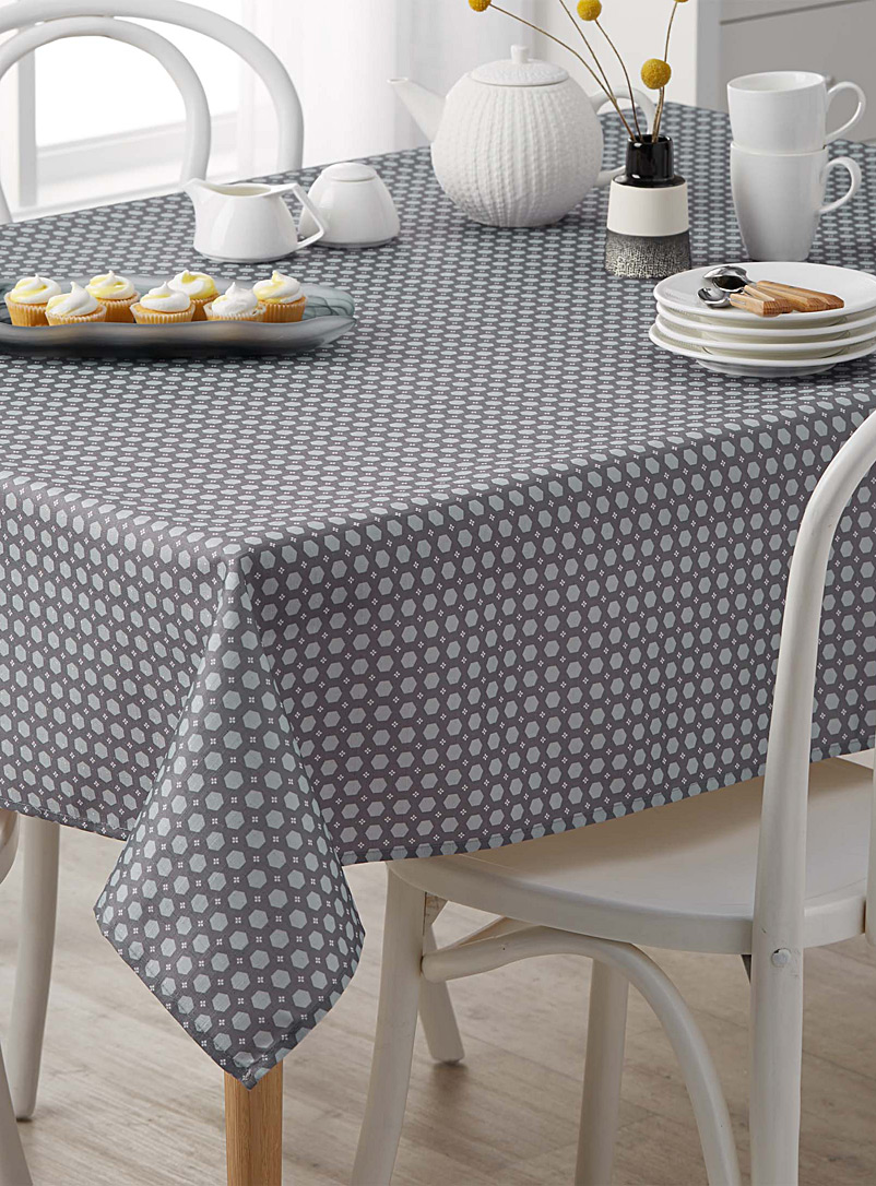 Danica Grey Soothing geometry tablecloth    All sizes