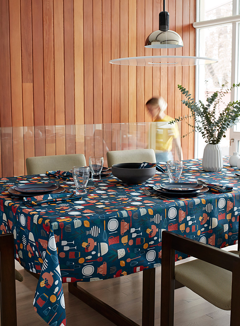 Simons Maison Assorted Joy of cooking tablecloth