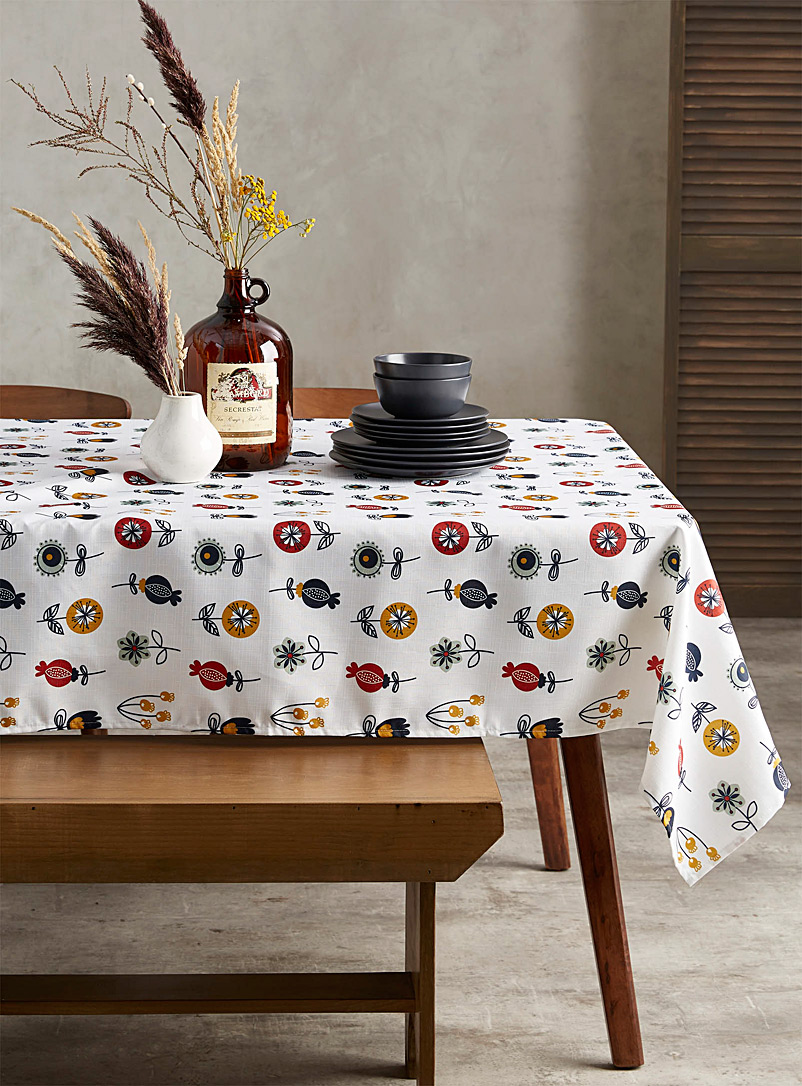 Pop flower tablecloth  All sizes - Printed