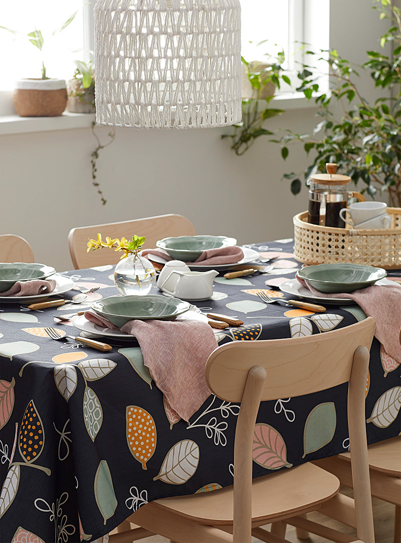 Simons Maison Assorted Artistic leaves tablecloth    All sizes