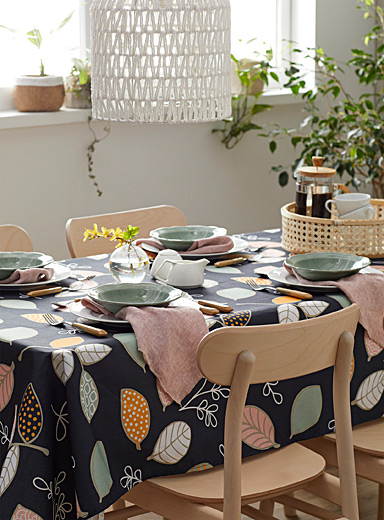 Artistic leaves tablecloth  All sizes
