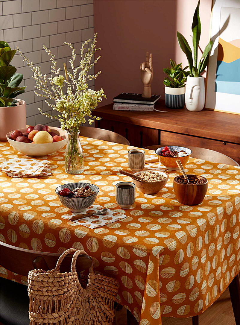Simons Maison Golden Yellow Solar discs tablecloth
