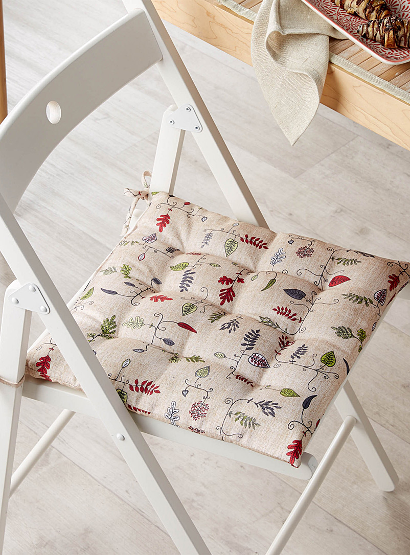 Graphic leaves chairpad  40 x 40 cm - Seat Cushions - Assorted