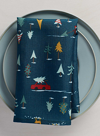 Chalet holiday napkin