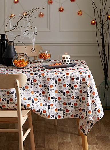 Festive Halloween tablecloth