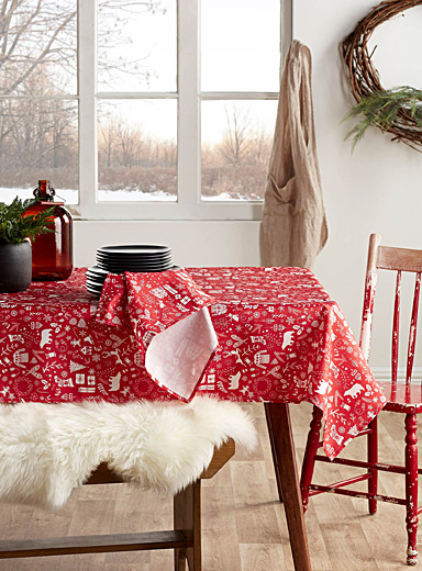 Christmas vacation tablecloth