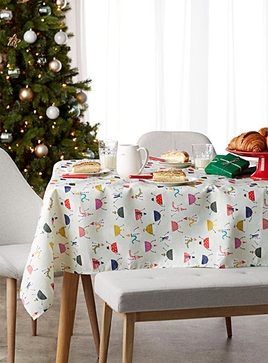 Winter scene tablecloth