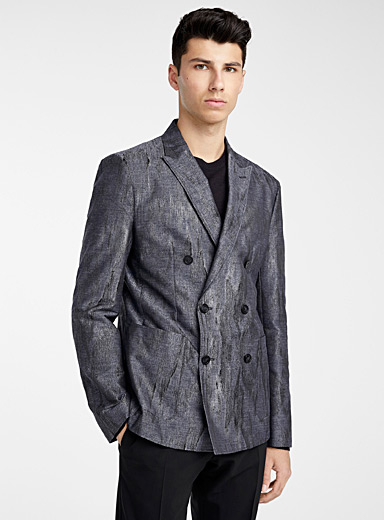 Emporio Armani Marine Blue Waterfall blazer for men