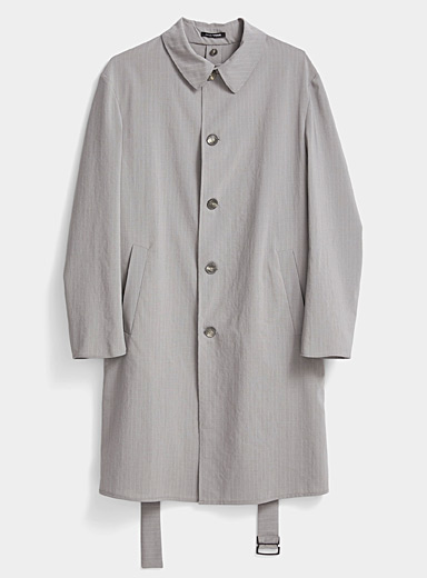 Tennis stripe overcoat