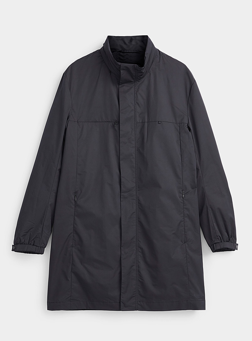 Emporio Armani Marine Blue Traveller raincoat for men