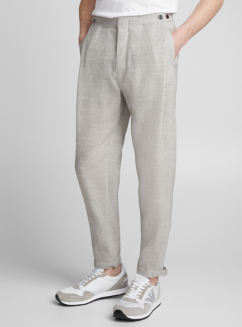 Wide pleat pant - Emporio Armani - Grey
