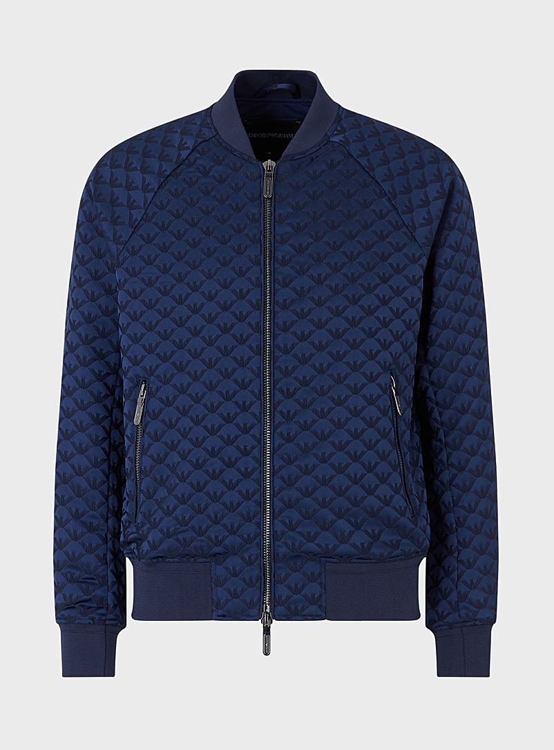 Emporio Armani Marine Blue Eagle jacket for men