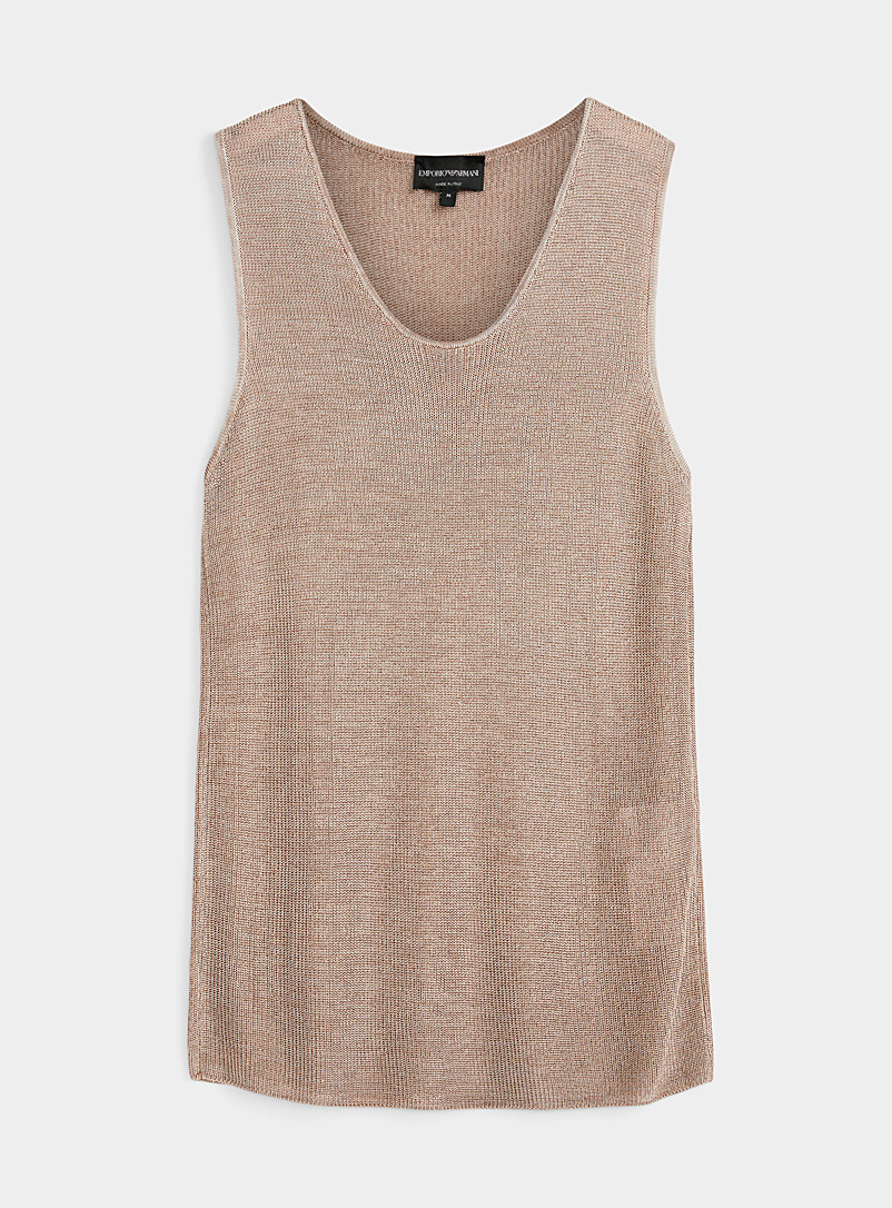 Emporio Armani Honey Light knit tank for men