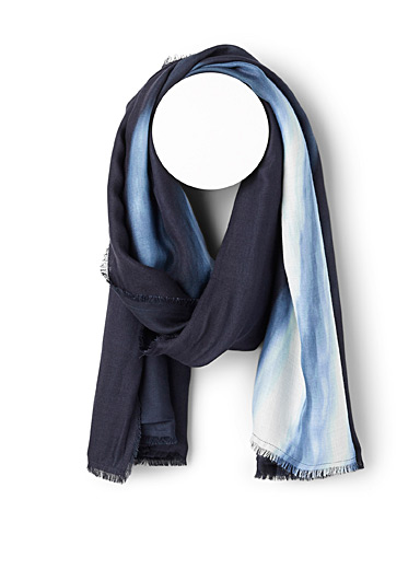 Emporio Armani Blue Waterfall scarf for men