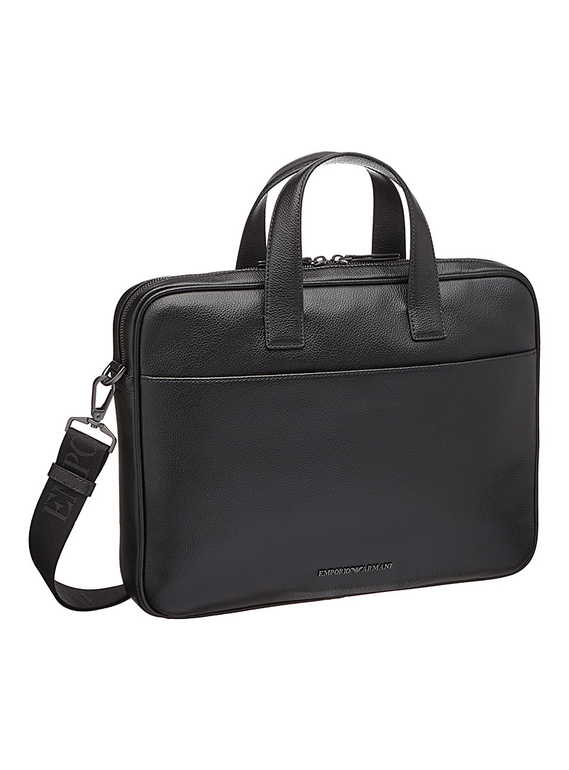 Emporio Armani Black Signature briefcase for men
