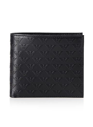 Optical style logo wallet