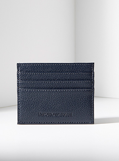 Emporio Armani Black Logo card holder for men