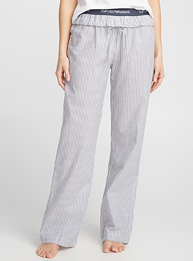 Chambray stripe pant