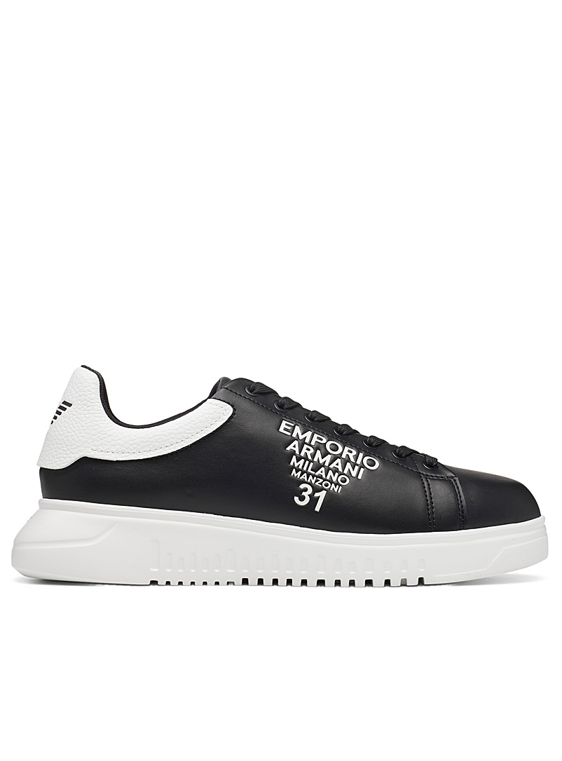 Emporio Armani Black Milano Manzoni 31 sneakers for men